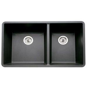 Blanco 441128 Silgranit Undermount Double Bowl Kitchen Sink