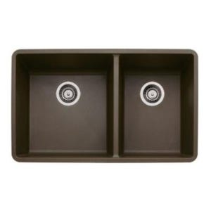 Blanco 441129 Silgranit Undermount Double Bowl Kitchen Sink