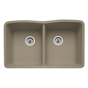 Blanco 441286 Diamond Undermount Double Bowl Kitchen Sink