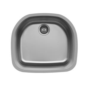 Karran Edge E-330 D-Shaped Single Bowl Kitchen Sink