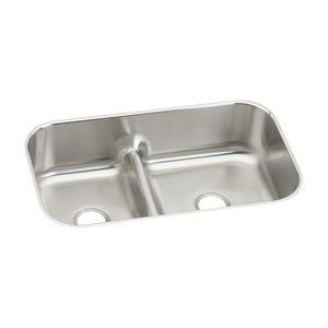 Elkay EAQDUH3421 Gourmet Undermount Double Bowl Kitchen Sink