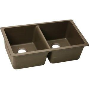 Elkay ELGU3322MC0 Gourmet E- Granite Undermount Double Bowl Kitchen Sink