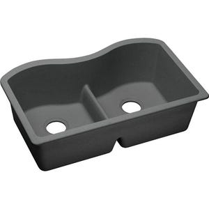 Elkay ELGULB3322GY0 Harmony Undermount Double Bowl Kitchen Sink