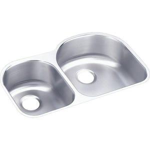 Elkay ELUH3119L Lustertone Undermount Double Bowl Kitchen Sink