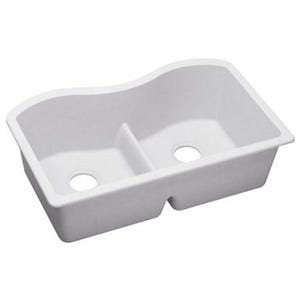 Elkay ELGULB3322WH0 Harmony Undermount Double Bowl Kitchen Sink
