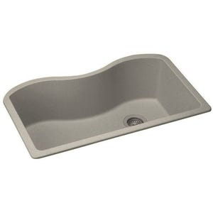 Elkay ELGUS3322RBQ0 Harmony E-Granite Single Bowl Kitchen Sink