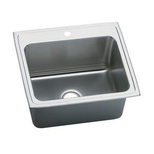 Elkay LR15171 Lustertone Single Bowl Kitchen Sink