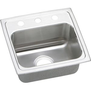 Elkay LR19181 Lustertone Single Bowl Kitchen Sink