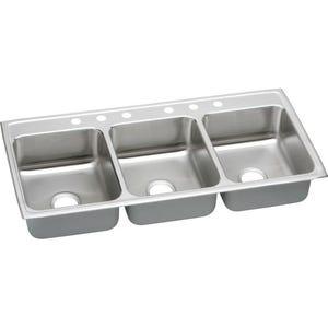 Elkay LTR46226 Lustertone Triple Bowl Kitchen Sink