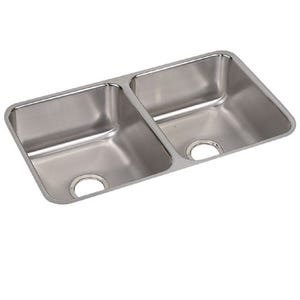 Elkay ELUH3118 Lustertone Undermount Double Bowl Kitchen Sink