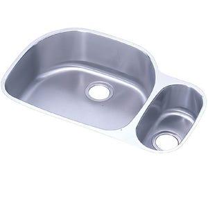 Elkay ELUH272010R Lustertone Undermount Double Bowl Kitchen Sink