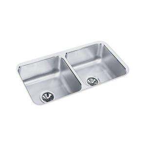 Elkay ELUH3116 Lustertone Undermount Double Bowl Kitchen Sink