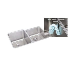 Elkay ELUH3120LEK Gourmet e-Dock Undermount Double Bowl Kitchen Sink