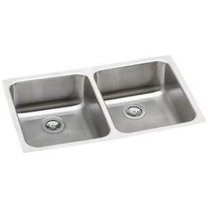 Elkay ELUHAD311850 Lustertone Undermount Double Bowl Kitchen Sink