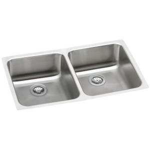 Elkay ELUHAD311855 Gourmet Undermount Double Bowl Kitchen Sink