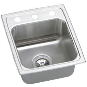 Elkay LR13163 Lustertone Single Bowl Kitchen Sink