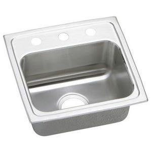 Elkay LR17163 Lustertone Single Bowl Kitchen Sink