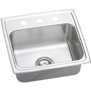 Elkay LR19182 Lustertone Single Bowl Kitchen Sink