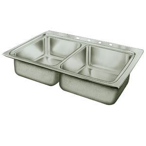 Elkay PSR33194 Pacemaker Double Bowl Kitchen Sink