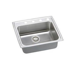 Elkay LRAD2521651 Lustertone Single Bowl Kitchen Sink