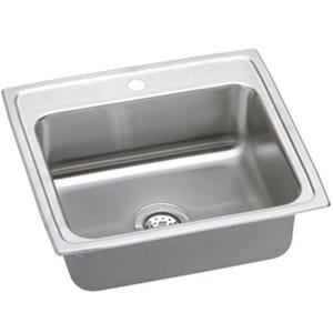 Elkay LRAD2521653 Lustertone Single Bowl Kitchen Sink