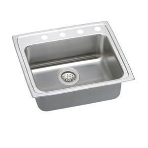 Elkay LRAD2521654 Lustertone Single Bowl Kitchen Sink