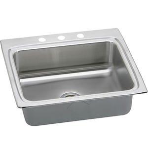 Elkay LRAD2522653 Lustertone Single Bowl Kitchen Sink