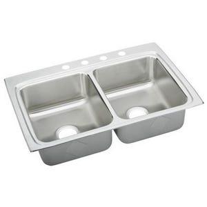Elkay LRQ33224 Double Bowl Kitchen Sink