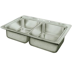 Elkay PSR33193 Pacemaker Double Bowl Kitchen Sink
