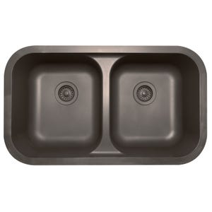 Karran Q-350 Quartz Series Undermount Double Equal Bowl Kitchen Sink