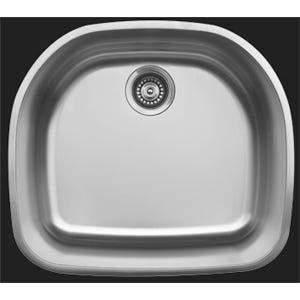 Karran U-2321 D-Shaped Single Bowl Kitchen Sink