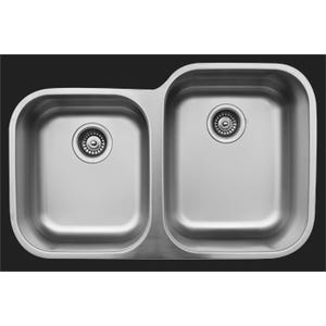 Karran U-6040L Large/Small Bowl Kitchen Sink