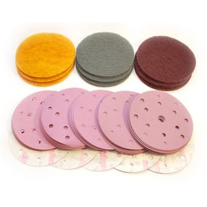 "Finishing Kit 6"" (sandpaper) - Matte to Semi-Gloss Finish (large pack, 60pcs)"