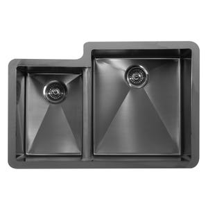 Karran Edge Stainless Steel E-560L Large/Small Bowl Kitchen Sink