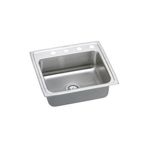Elkay LRQ25214 Lustertone Single Bowl Kitchen Sink