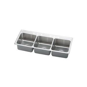 Elkay LTR5422106 Lustertone Triple Bowl Kitchen Sink