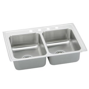 Elkay PSR33223 Pacemaker Double Bowl Kitchen Sink