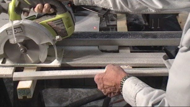 Cutting a Strip for a Dropped Edge