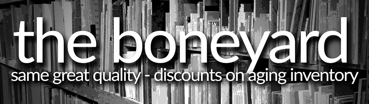The Boneyard: Aging Inventory Discounts, Same Great Quality