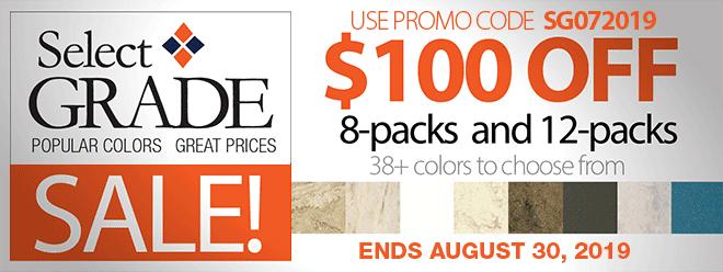 Select Grade Sale - Use Code SG072019
